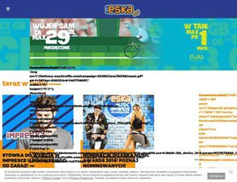 Main page screenshot of eska.pl