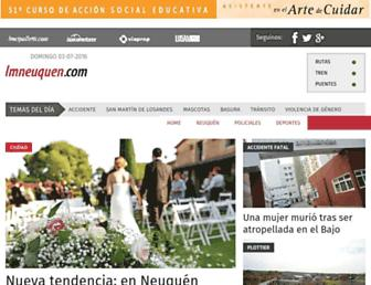 Main page screenshot of lmneuquen.com.ar
