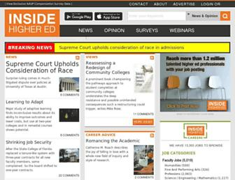 insidehighered.com screenshot