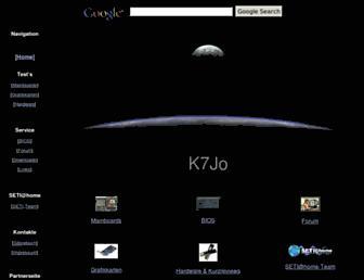 Main page screenshot of k7jo.de