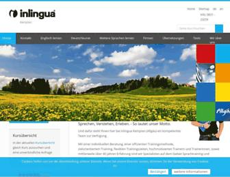Main page screenshot of inlingua-kempten.de