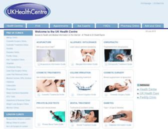 healthcentre.org.uk screenshot