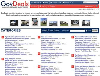Thumbshot of Govdeals.com