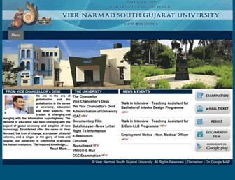 Thumbshot of Vnsgu.ac.in