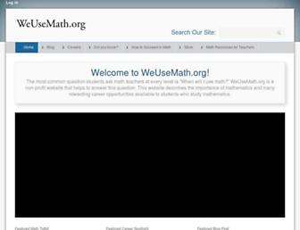 Main page screenshot of weusemath.org