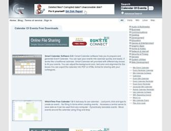 Main page screenshot of calendar-of-events.qarchive.org