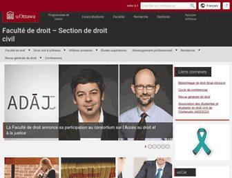droitcivil.uottawa.ca screenshot