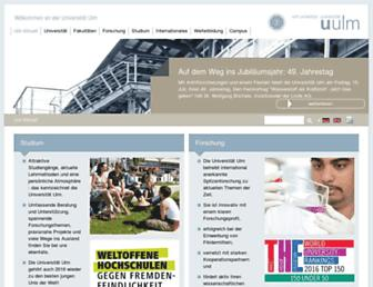 Main page screenshot of uni-ulm.de