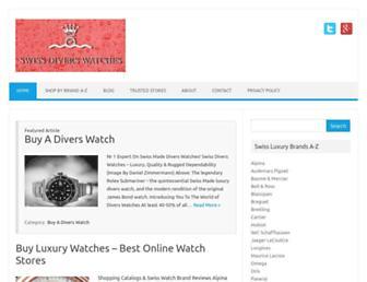 swissdiverswatches.com screenshot