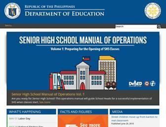 deped.gov.ph screenshot