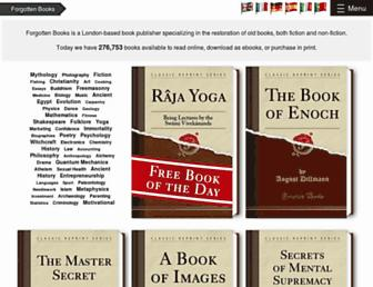 forgottenbooks.com screenshot