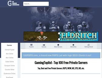 Thumbshot of Gamingtoplist.net