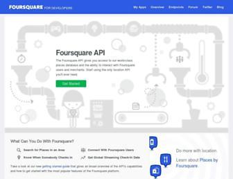 developer.foursquare.com screenshot