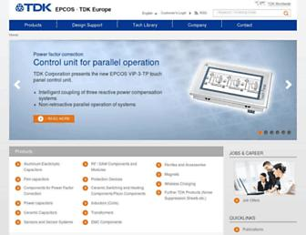 en.tdk.eu screenshot