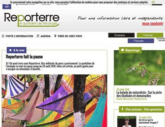 Main page screenshot of reporterre.net