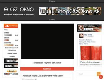 Main page screenshot of cez-okno.net