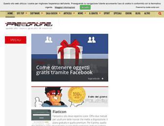 Main page screenshot of freeonline.org