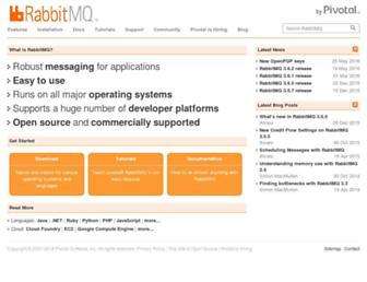 rabbitmq.com screenshot