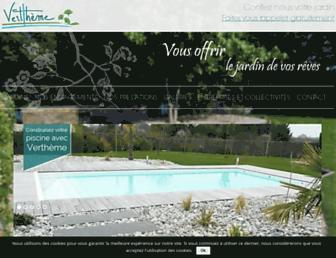 vertheme-paysagiste.com screenshot
