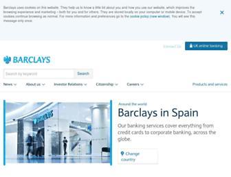 Main page screenshot of barclays.es