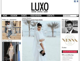 luxo.co.za screenshot