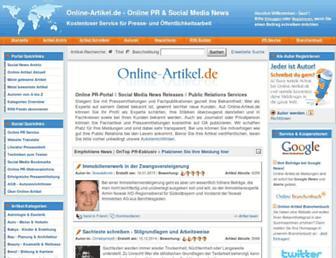 Main page screenshot of online-artikel.de