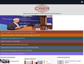 icrier.org screenshot