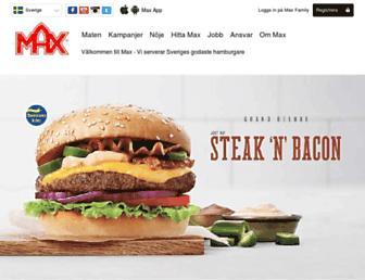 Main page screenshot of max.se