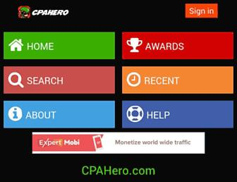 cpahero.com screenshot