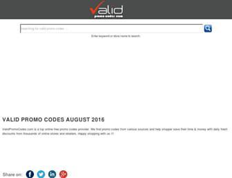 validpromocodes.com screenshot