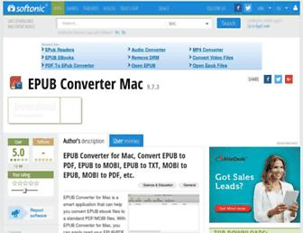 epub-converter-mac.en.softonic.com screenshot