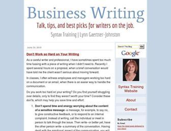 businesswritingblog.com screenshot