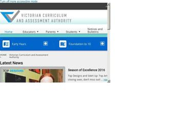 vcaa.vic.edu.au screenshot