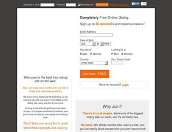 mingle2.com screenshot