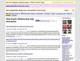 Main page screenshot of dearcupid.org