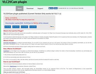 vlc2vcam.com screenshot
