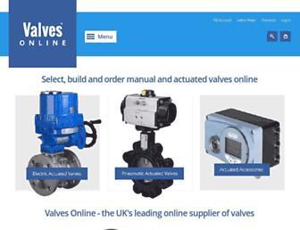 valvesonline.co.uk screenshot