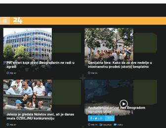 Main page screenshot of 24sata.rs