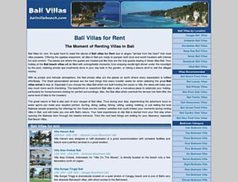 balivillabeach.com screenshot