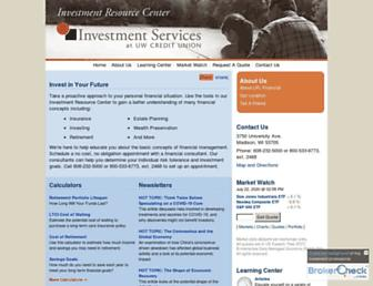 uwcuinvestmentservices.org screenshot