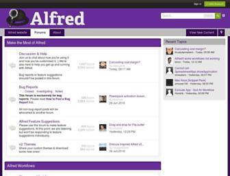 alfredforum.com screenshot