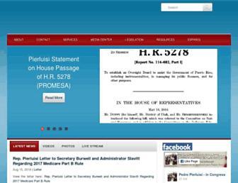 Main page screenshot of pierluisi.house.gov