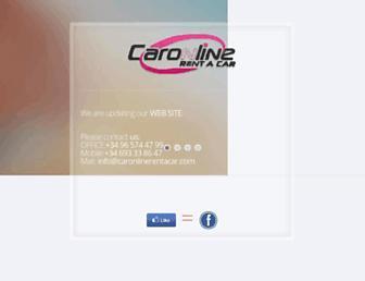 caronlinerentacar.com screenshot