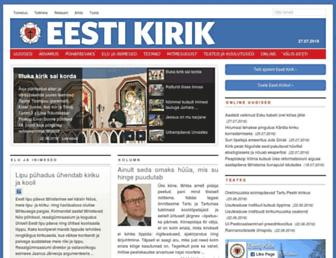 Main page screenshot of eestikirik.ee