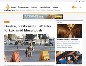 Main page screenshot of english.aljazeera.net