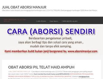 aborsimanjur.com screenshot