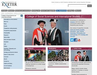 socialsciences.exeter.ac.uk screenshot
