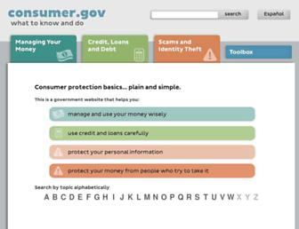 consumer.gov screenshot
