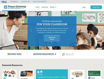 texasgateway.org screenshot