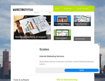 marketingportaal.nl screenshot